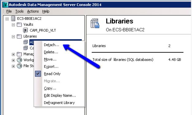 Migrating Your Autodesk Vault Server (Part 2 ADMS Detach and
